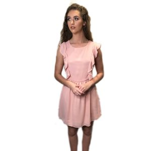 Frill Sun Dress Blush Pink