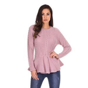 Knit-Frill-Hem-Jumper-Pink-1
