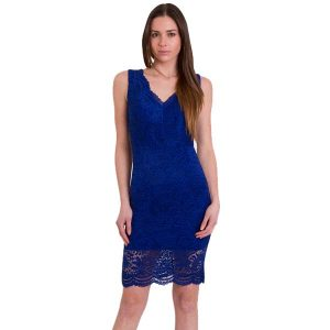 Lace Bodycon Dress Blue