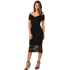 Lace Multiway Dress Black