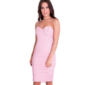 Lace-Panel-Bodycon-Dress-Pink-1