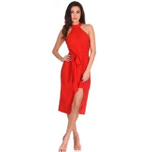 Mini Maxi Dress Red