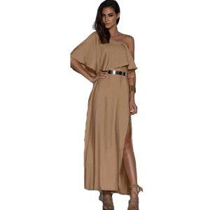 One-Shoulder-Linen-Dress