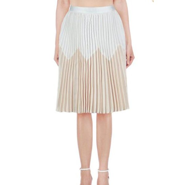Pleated-Skirt-Cream-&-Gold