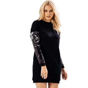 Sequin Sleeve Jumper