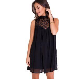 Silver & Black Lurex Dress