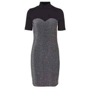 Silver-&-Black-Lurex-Dress-1