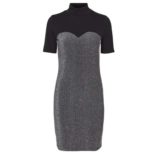Silver-&-Black-Lurex-Dress-1