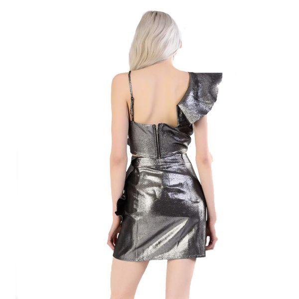 Silver Frill Skirt