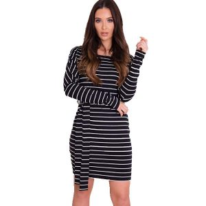 Striped Jersey Dress