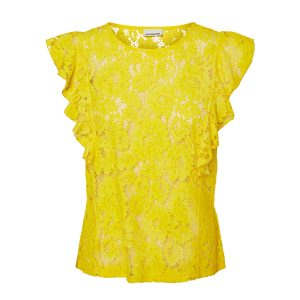 Yellow lace top to buy online
