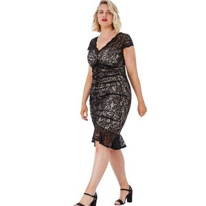 Black-Lace-Gathered-Dress-1