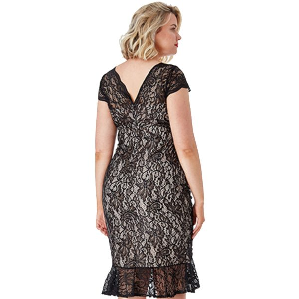 Black-Lace-Gathered-Dress-2