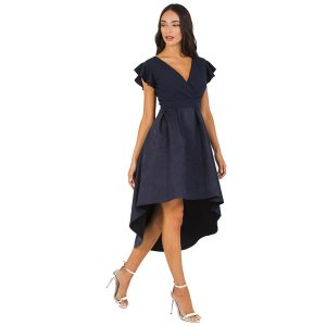 Navy-Suedette-Asymetric-Dress