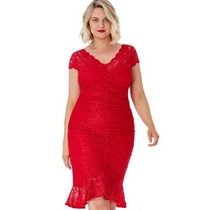 Red-Lace-Gathered-Dress-1