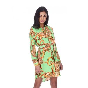 Green-And-Gold-Print-Shirt-Dress-3