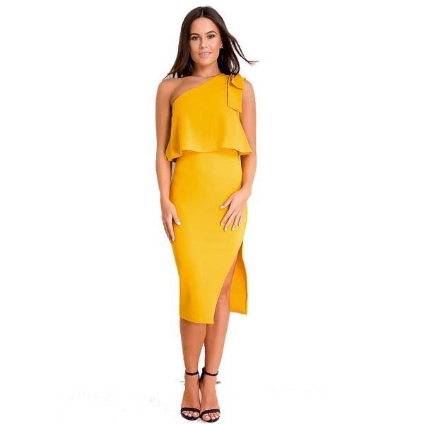 Mustard-One-Shoulder-Bodycon-Dress-1