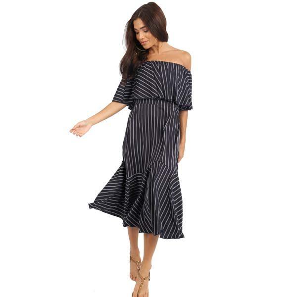 Striped-Bardot-Dress-1