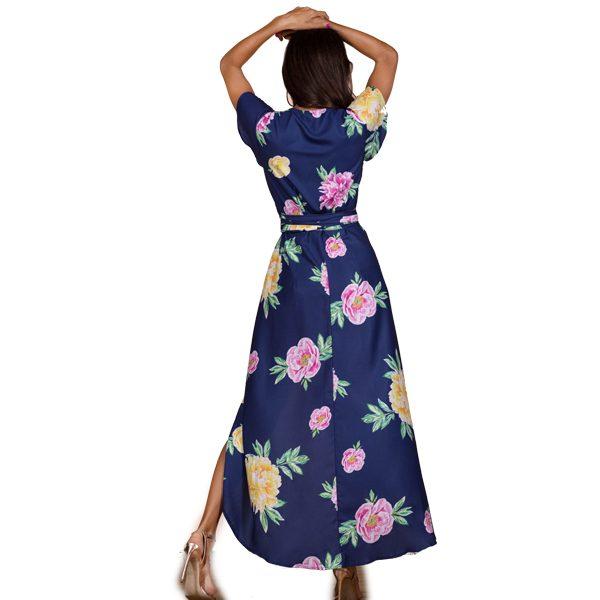 Dancing-Leopard-Cayenne-Dress-Navy-Peony Dress-2