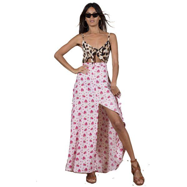 Dancing-Leopard-Malibu-Dress-Pink-Daisy-1