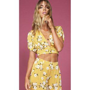 Mustard-Floral-Top