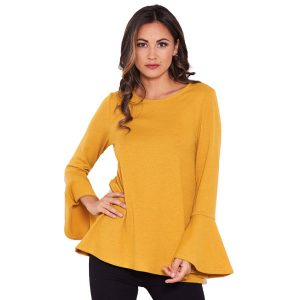 Mustard-Knit-Frill-Sleeve-Top-1