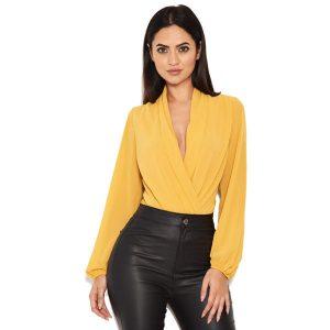 Mustard-Mesh-Sleeve-Bodysuit-1