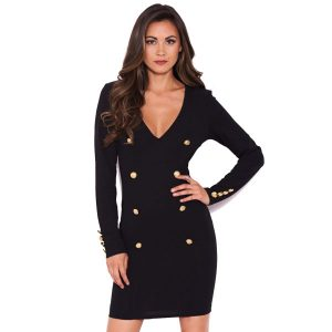Black-Button-Long-Sleeve-Dress-1