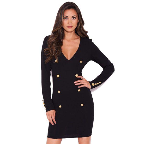Black-Button-Long-Sleeve-Dress-1