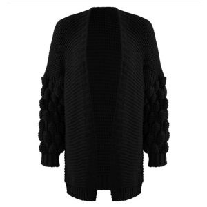Bobble-Cardigan-Black