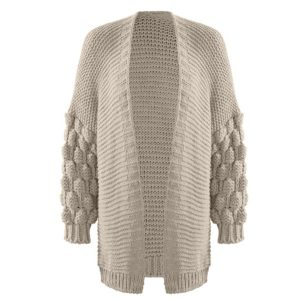 Bobble-Cardigan-Stone