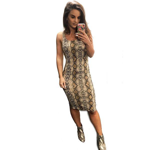 Snake-Print-Jersey-Dress