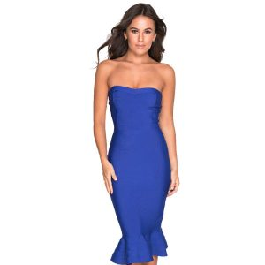Blue-Fishtail-Bandage-Dress-1