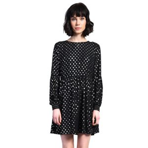 Black-And-Gold-Polkadot-Dress-1
