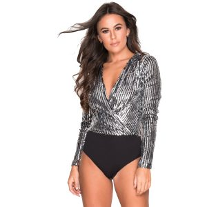 Black-And Silver-Sequin-Bodysuit-1