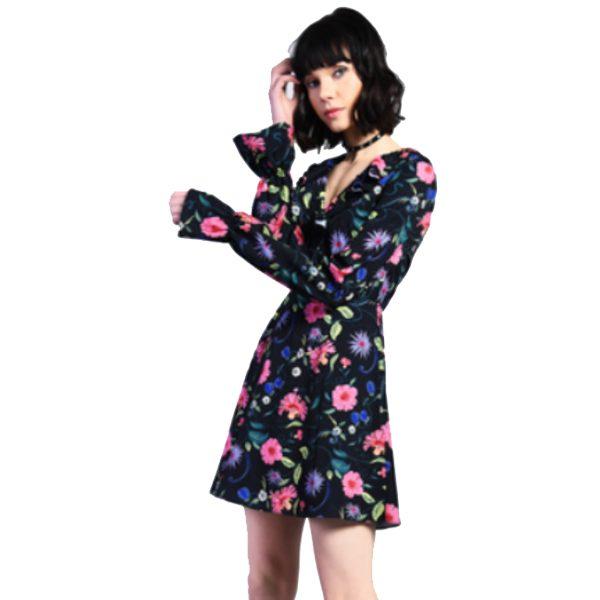 Black-Floral-Tea-Dress-1