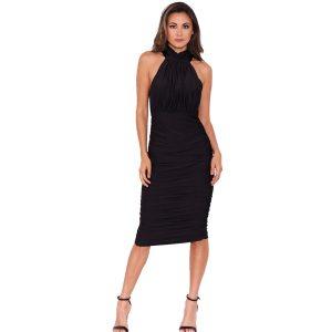 Black-Halter-Neck-Dress-3