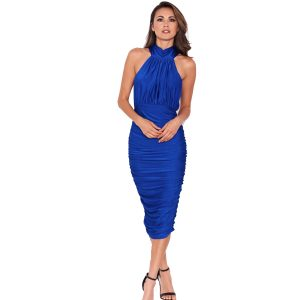 Blue-Halter-Neck-Dress-1