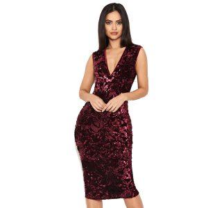 Burgundy-Sequin-Velvet-Dress-1