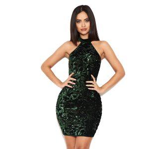 Green-Sequin-Velvet-Dress-4