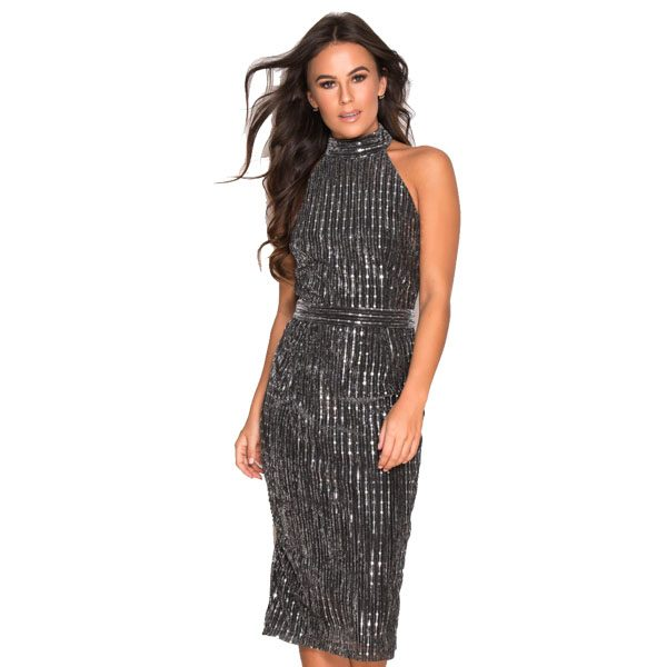 Black-And-Silver-Shimmer-Dress-1