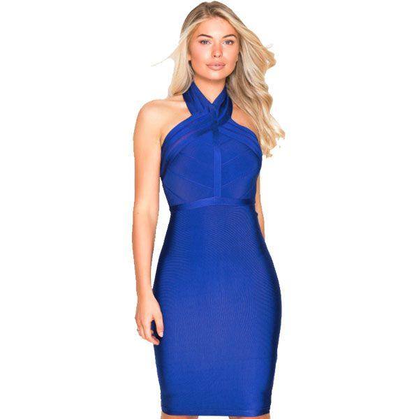Blue-Bandage-Dress