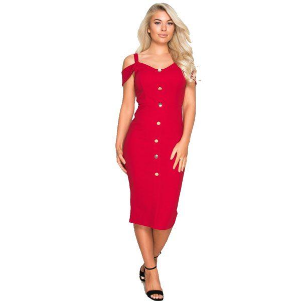 Red-Button-Dress