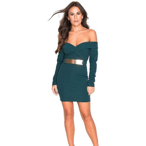 Teal-Bardot-Dress