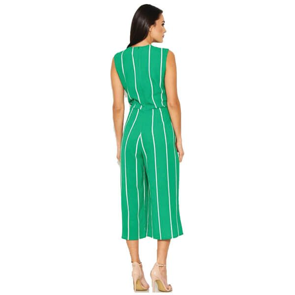 Green Pin Stripe Jumpsuit