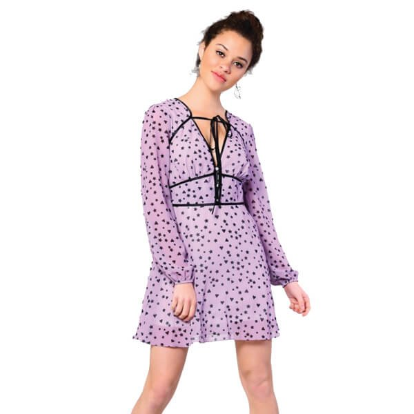 Lilac Star And Hearts Dress