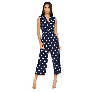 Navy And White Polka Dot Jumpsuit