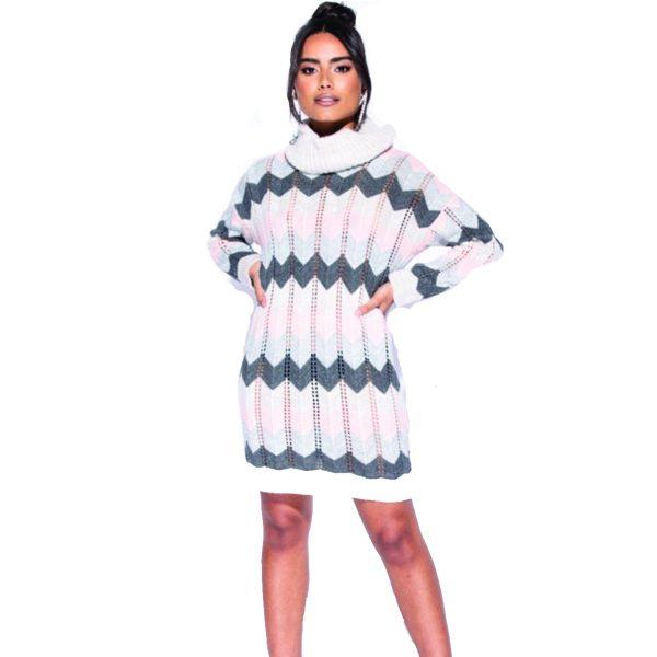 PInk-Grey-Cream-Jumper-dress-1