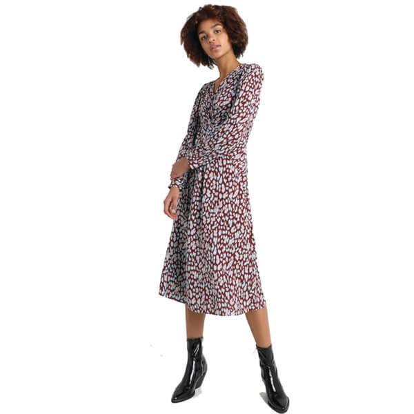 a6598d8d59b1f Leopard Print Midi Dress - Sequin Cinderella