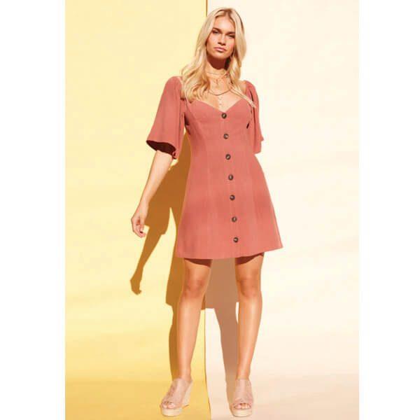 Clay Linen Dress